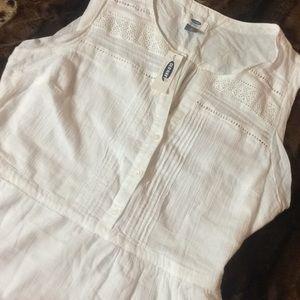 BNWT OLD NAVY Boho Sleeveless White  Midi dress